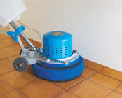 Baseboard cleaning with Scrub Jay attachment and Rabbit-3 machine